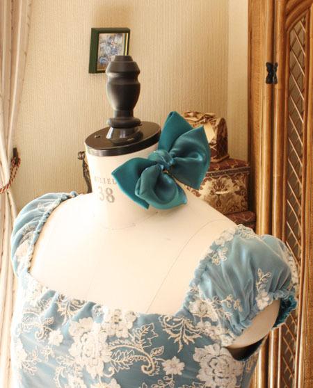リボンのヘッドドレスを製作