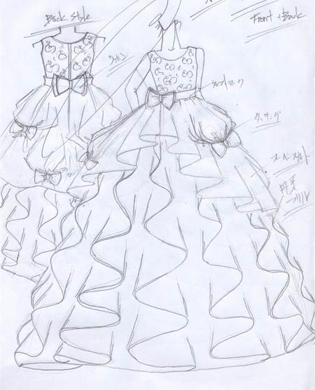 子供用演奏会ドレス デザイン