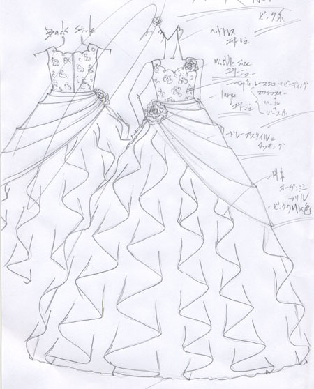 オーダーメイド 子供用 ピアノの発表会ドレス