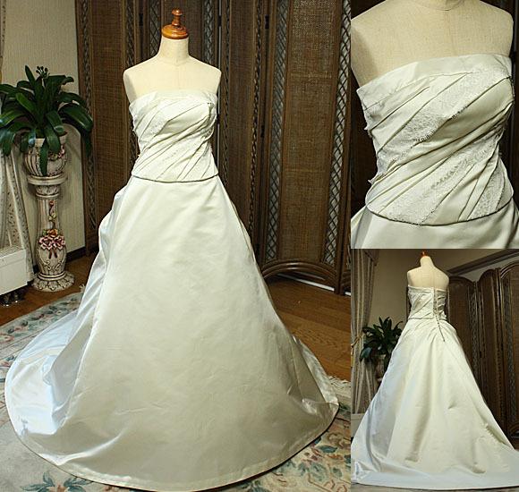 オートクチュールウェディングドレス シルク素材の花嫁様ドレス