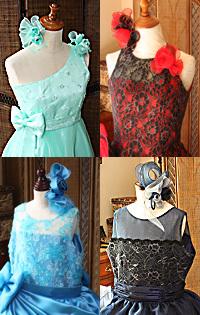 ワンショルダーとシースルーデザイン 演奏会や発表会ドレス