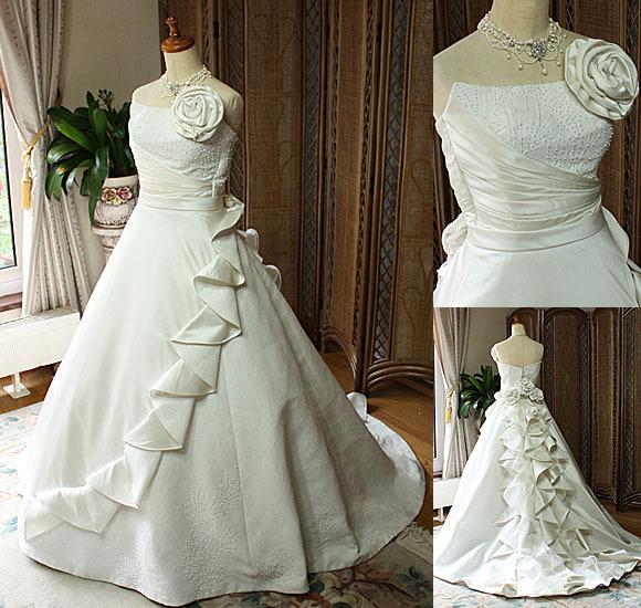 着物ウェディングドレス 花嫁様のオーダーメイドドレス
