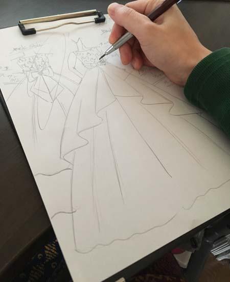 ジュニアサイズドレスのデザイン コンクールや発表会に着るドレス