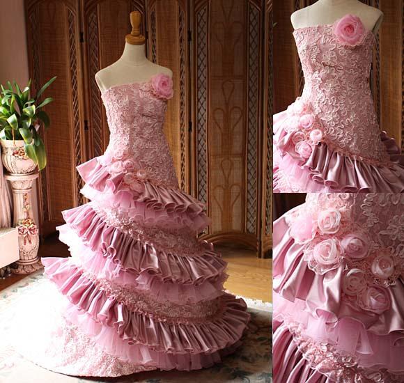 カラードレス 結婚式お色直し リメイク