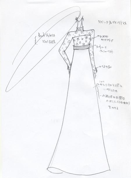 ウェディングドレス クラシック ロングスリーブ