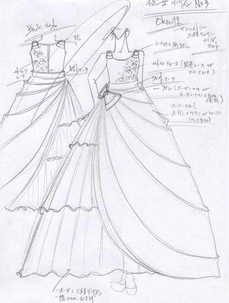子供用発表会ドレス デザイン画