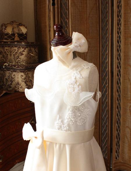 髪飾り用に制作をしたリボンのヘッドドレス