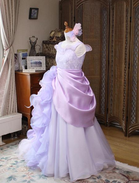 ジュニアサイズドレス オーバースカートドレス