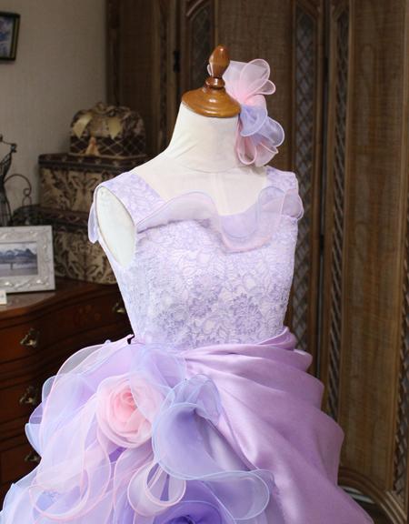 ジュニアサイズドレスの上半身デザイン