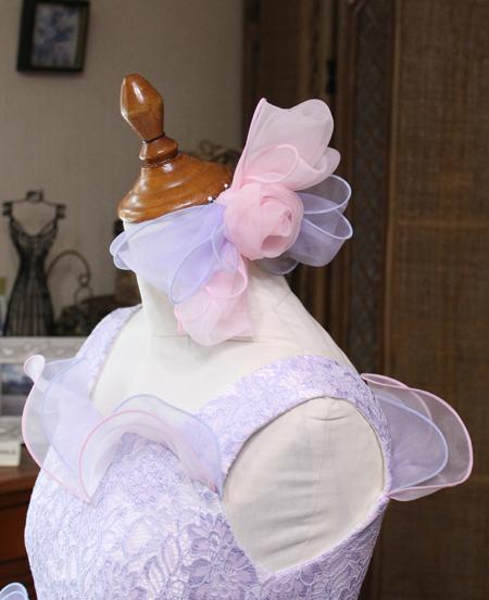 髪飾り ドレスに合わせてコーディネートしたヘッドドレス