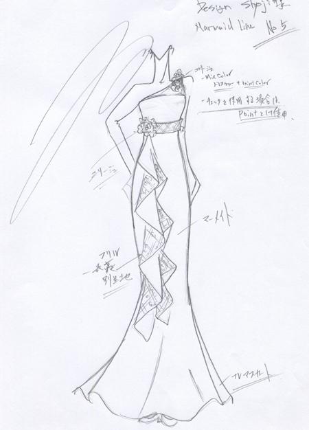 マーメイドドレス デザイン
