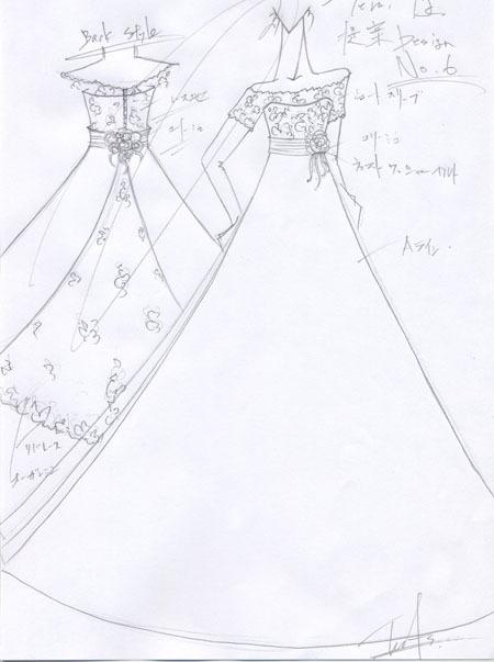 ウェディングドレス デザイン画 東京都の花嫁ドレス