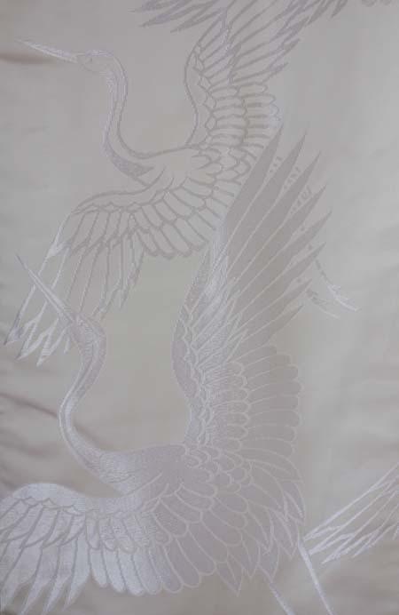 白無垢 鶴 正絹