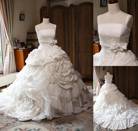 チャぺルトレーンのウェディングドレス