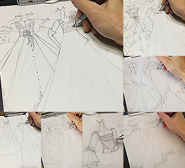 花嫁の理想と希望を取り入れたウェディングドレスのデザイン