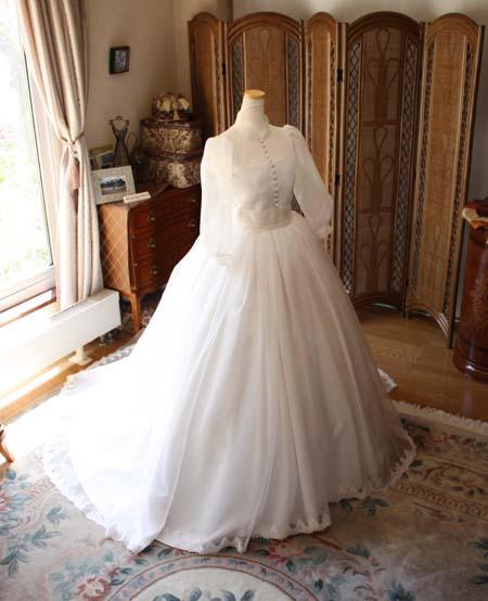 札幌の花嫁様に制作したウェディングドレス
