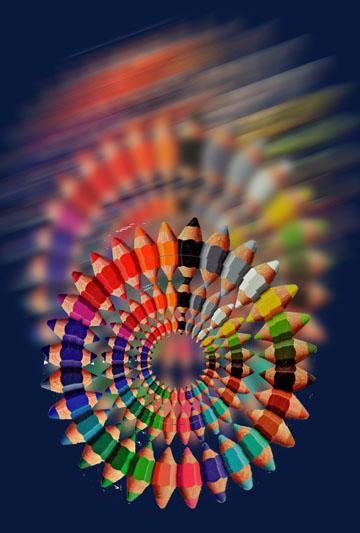 うわぁ!「壜の中に色鉛筆!」