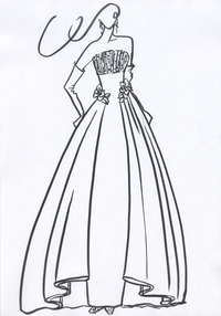 オーダーメイド ウェディングドレスのデザイン画
