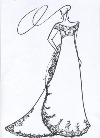 花嫁に描くウェディングドレスのデザイン