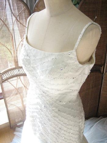 マーメイドライン ウェディングドレス サムシングブルー