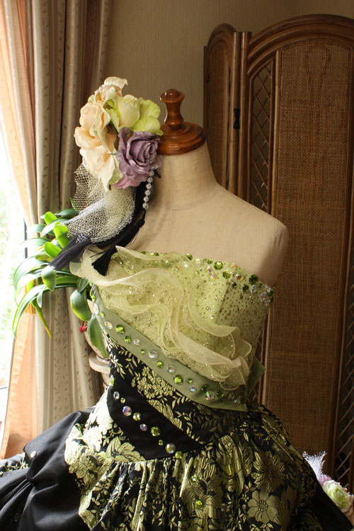 和装カラードレス