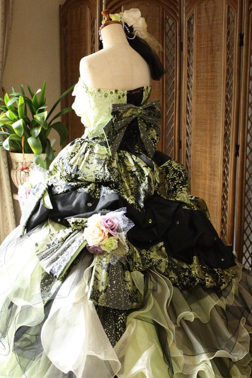 バックスタイル カラードレス