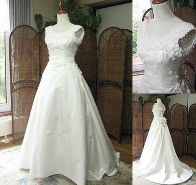 シルク ウェディングドレス