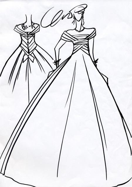 オーダードレス デザイン画