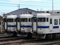 往年の415系列車=常磐線・高萩駅にて=