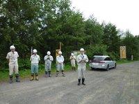 ペンケニコロの導水管工事を視察