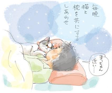 枕を共にする