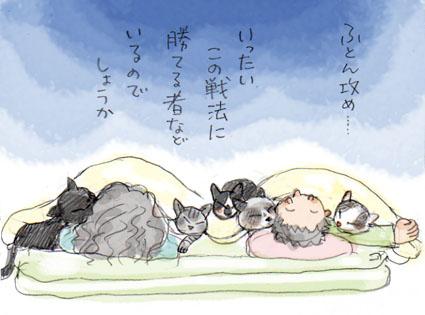 猫の兵法-其の伍「布団攻め」