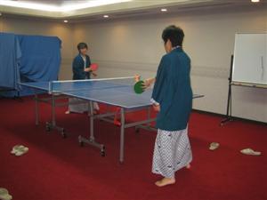 楽しいですねー卓球。自宅にほしいです!