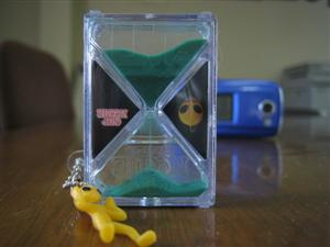 この砂時計は重宝してます。ホントに。