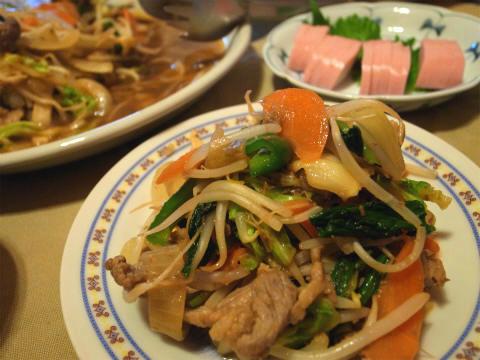 肉野菜ギョウジャニンニク炒め