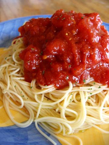 「冷やしトマトスパゲティ」始めました!