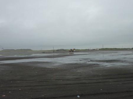 破壊された海岸