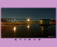春日市白水大池公園、取水塔でバス釣り