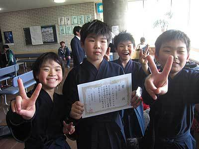 猿払剣道大会で中川少年団が活躍