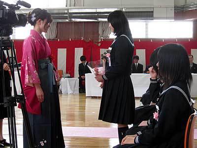 感動の中川中卒業式