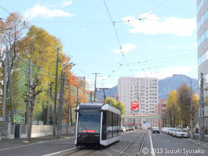 【札幌市電】雪と紅葉