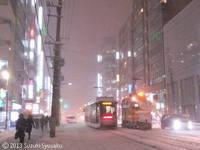【札幌市電】ポラリス、ササラ、猛吹雪。