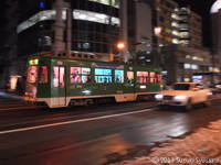 【札幌市電】夜の街の貸切電車