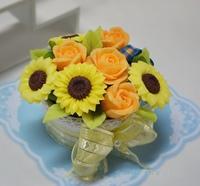 ひまわりアレンジ+石鹸クズ粘土
