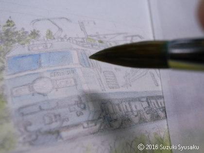 宮の森日記●銀色の機関車