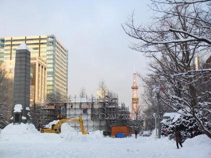 宮の森日記●雪まつり準備中