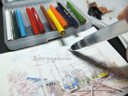 宮の森日記●試し描き