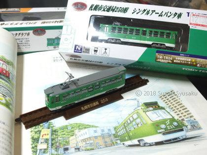 宮の森日記●札幌市電の模型