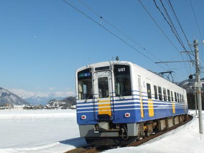 宮の森日記●雪景色のえちぜん鉄道