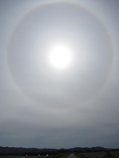 太陽に大きな輪